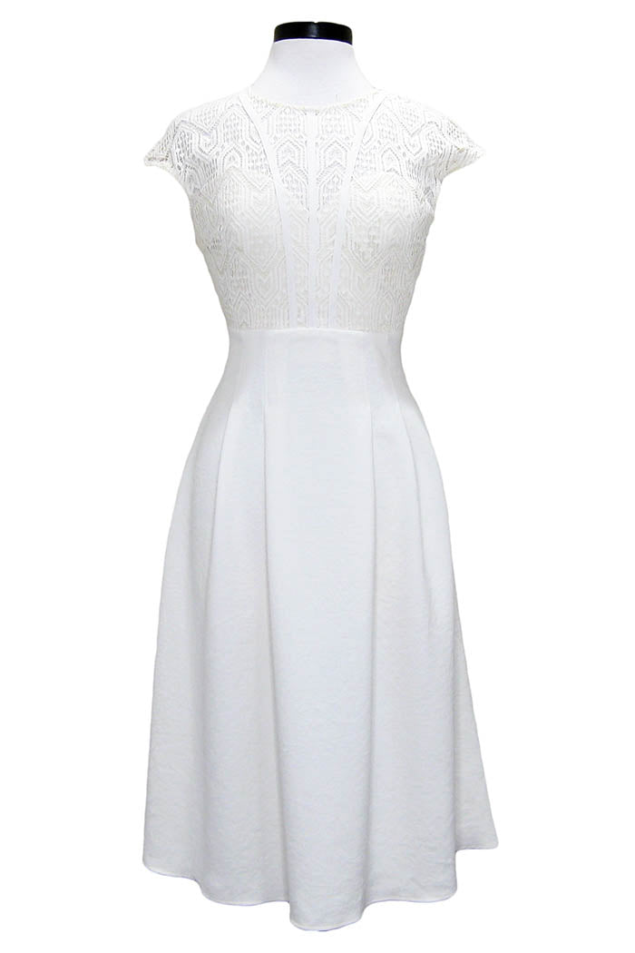 ba&sh prima dress off white