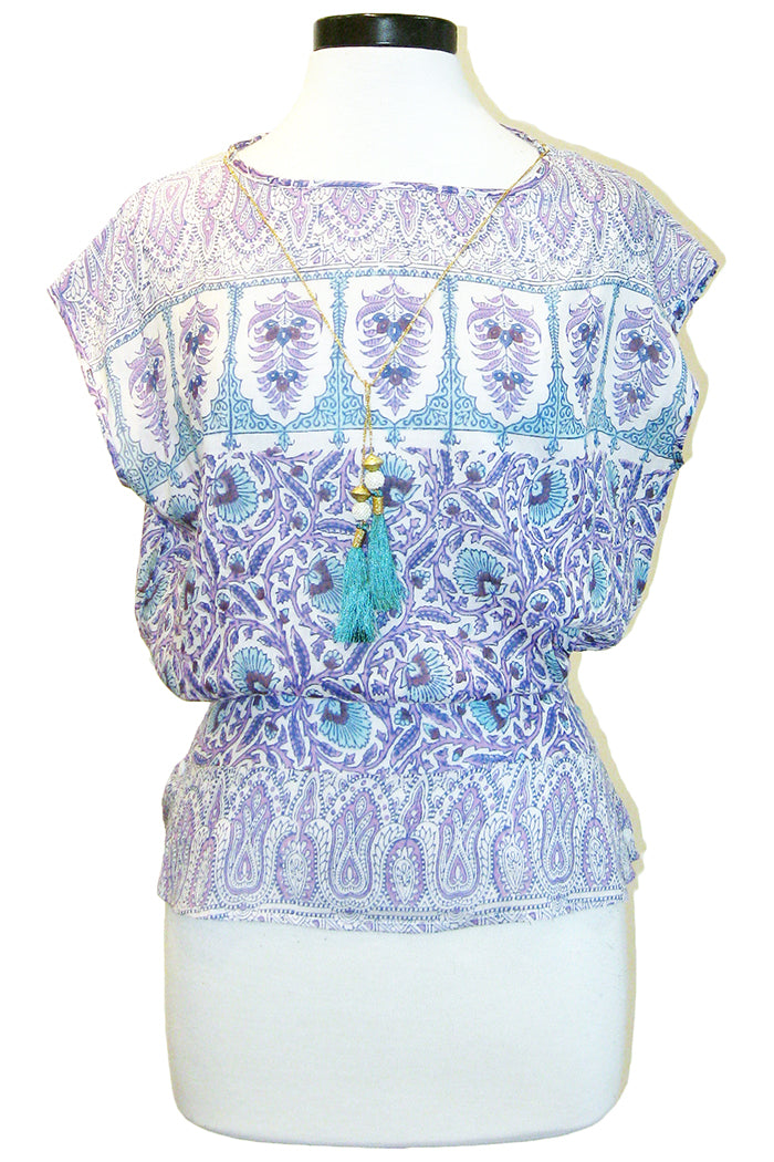 bell blouse purple