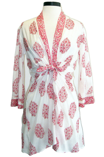 bell tie front cover up pink