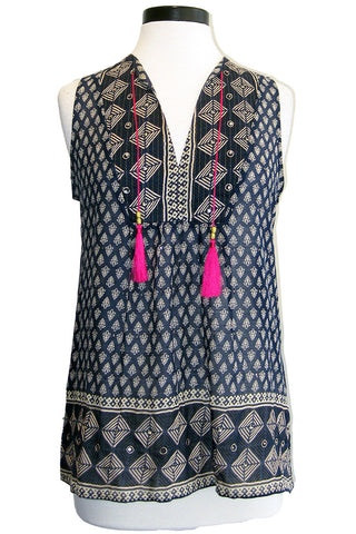 bell tunic tank with tassels