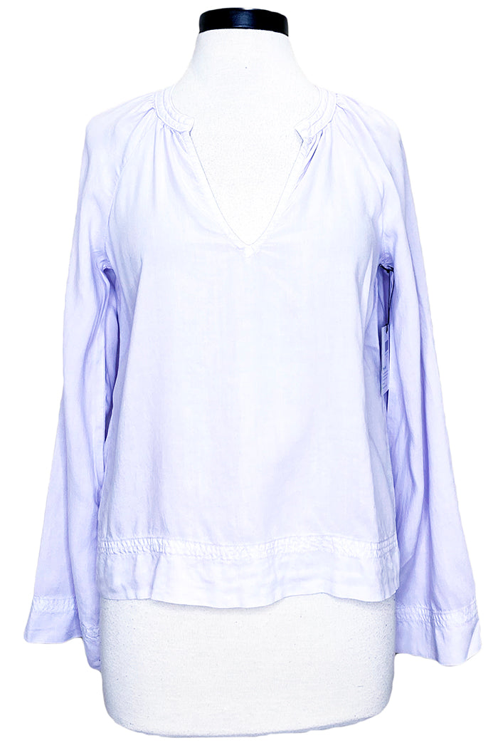 bella dahl flowy raglan sleeve top lilac breeze