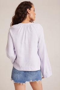 bella dahl flowy raglan sleeve top