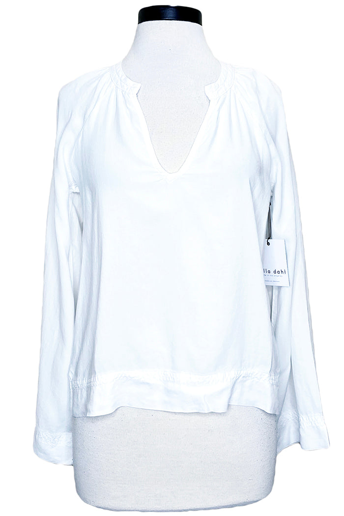 bella dahl flowy raglan sleeve top white