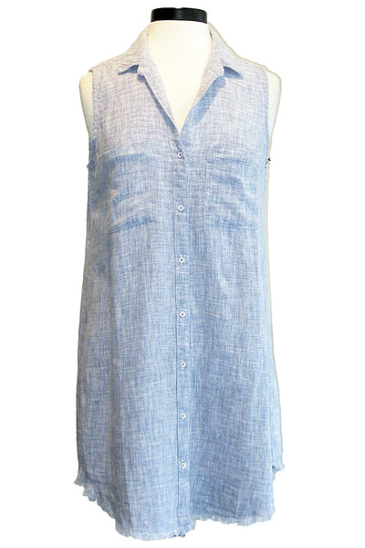 bella dahl fray hem hipster dress still water