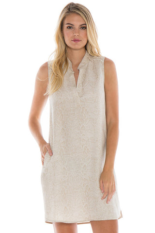 bella dahl sleeveless frayed a-line dress