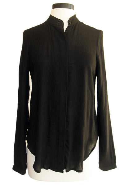 bella dahl oversized placket shirt black
