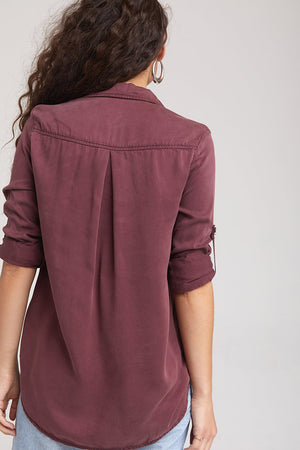 bella dahl patch pocket utility shirt
