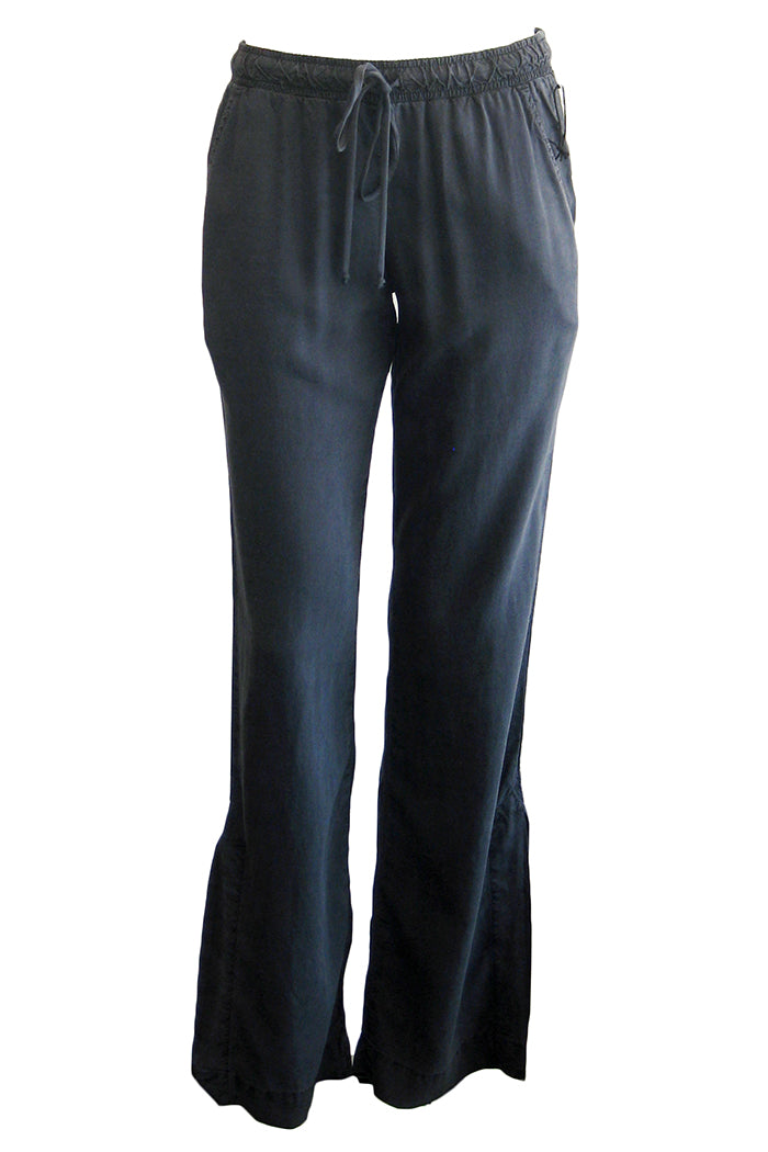 bella dahl side slit wide leg pant blue shadow