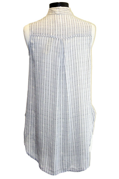 bella dahl sleeveless tie neck shirt