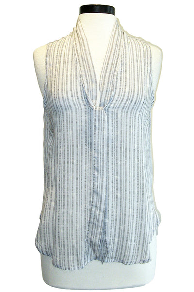 bella dahl sleeveless tie neck shirt starlight