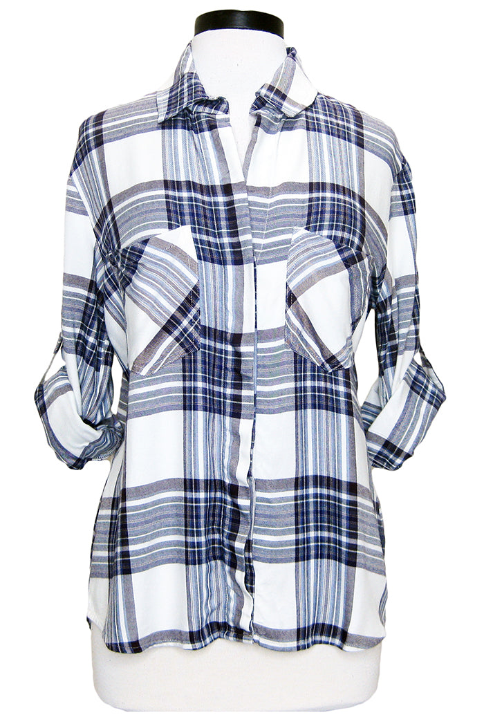 bella dahl split back button down glacier point