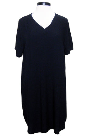 bella dahl v-neck tee dress black