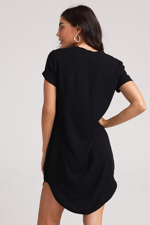 bella dahl v-neck tee dress