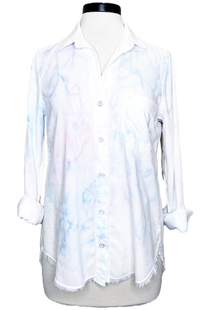 bella dahl color spray button down pink blue