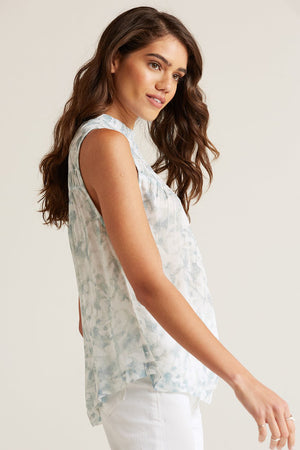 bella dahl shirred sleeveless top