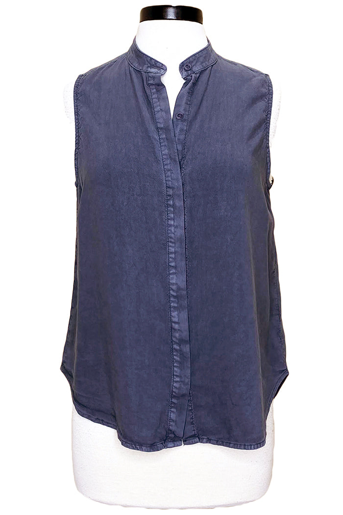 bella dahl sleeveless button down twilight