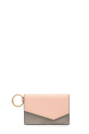 botkier cobble hill card case peach colorblock