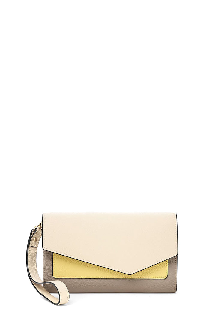 botkier cobble hill wallet cream colorblock