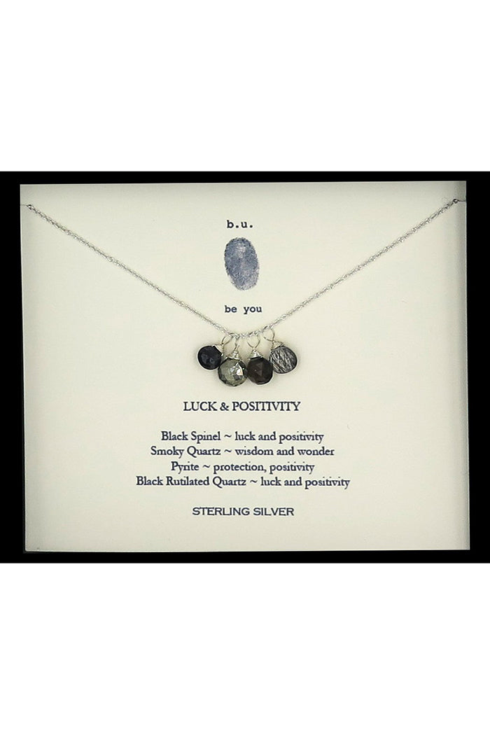 b.u. luck & positivity necklace silver
