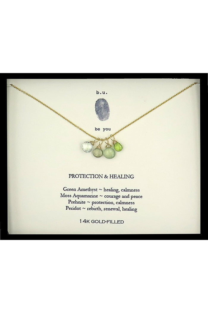 b.u. protection & healing necklace gold