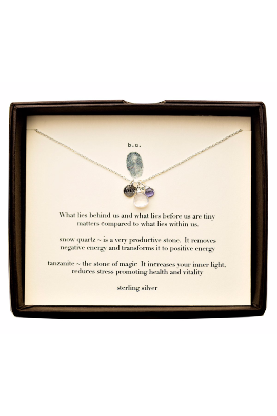b.u. what lies behind us necklace silver
