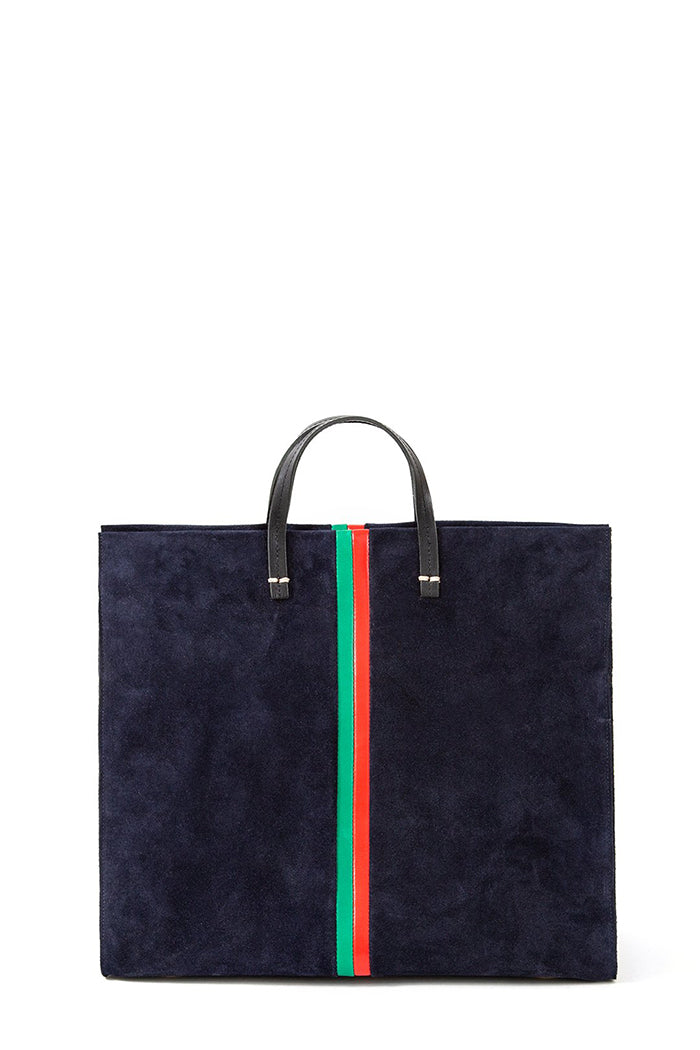 clare v. simple tote navy with stripes