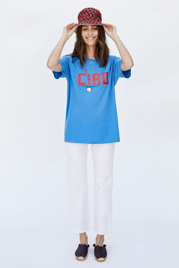 clare v. camp fit tee blue ciao