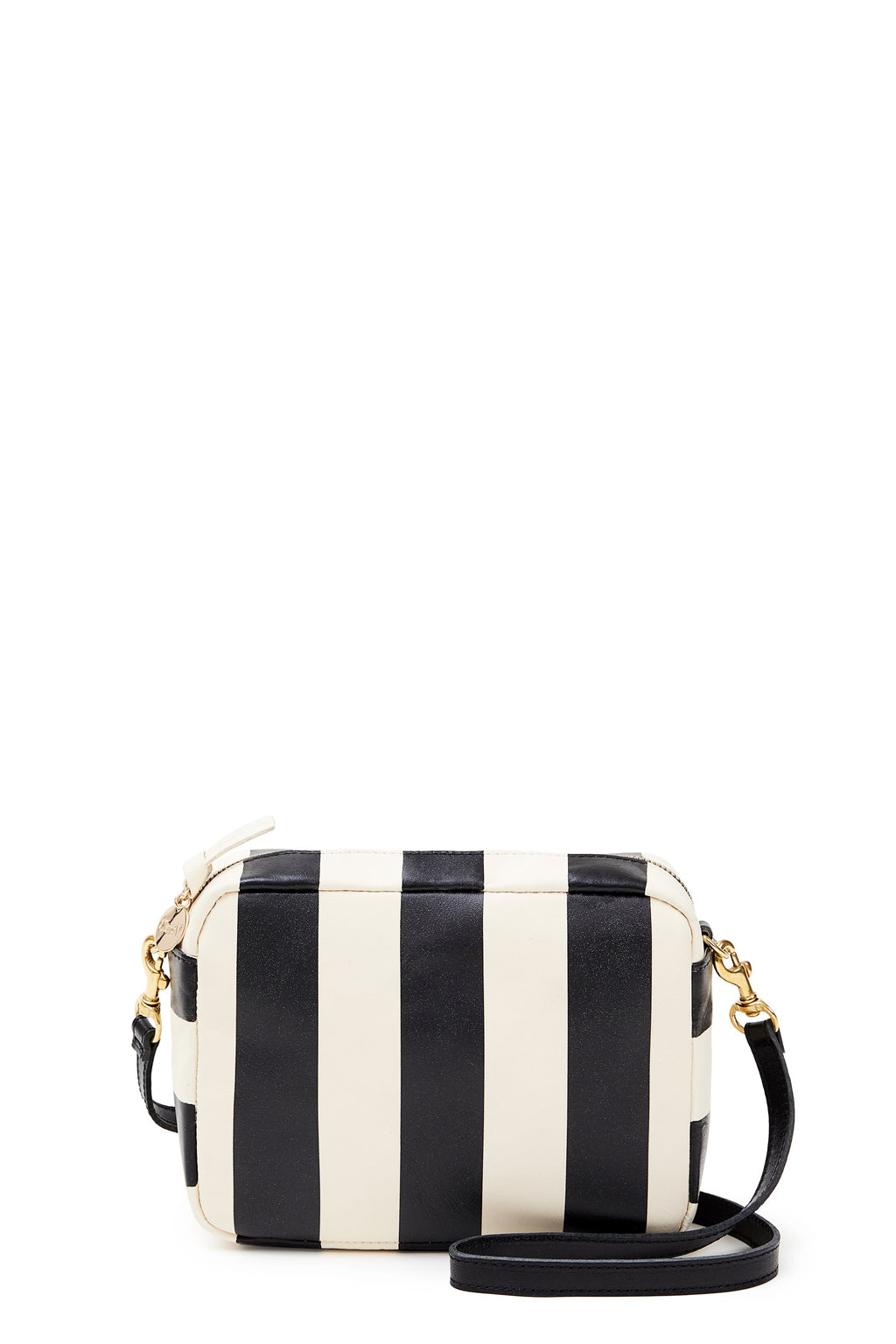 clare v. midi sac black cream stripe
