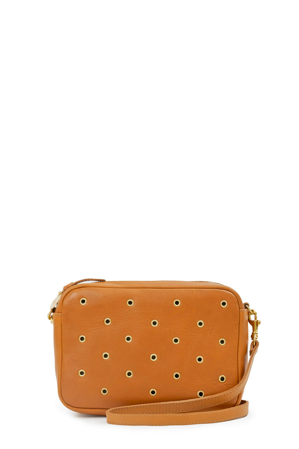 clare v. midi sac cuoio with grommets