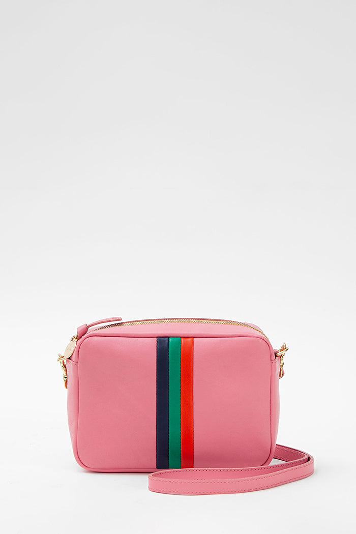 clare v. midi sac petal with stripes