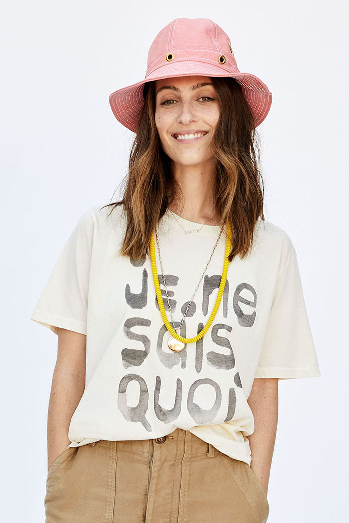 clare v. original fit tee cream je ne sais quoi
