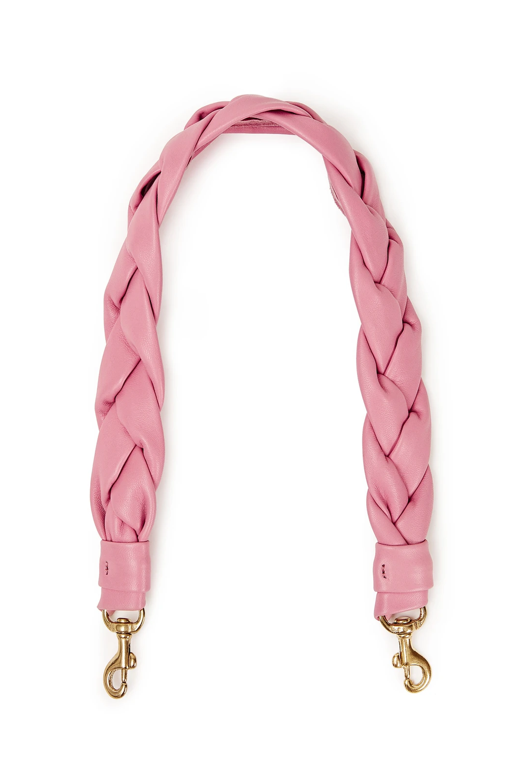 clare v. shoulder strap braided petal leather