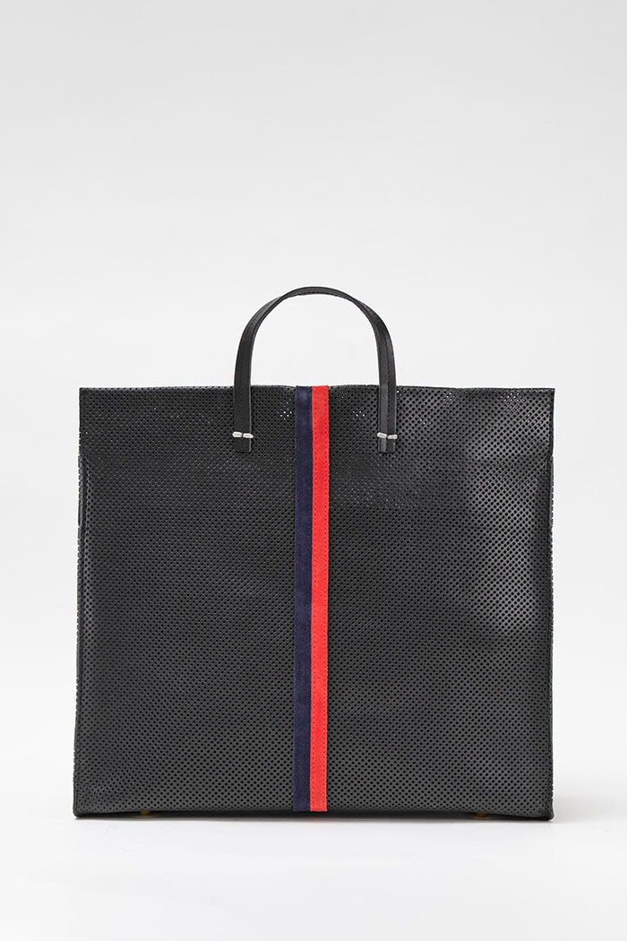 clare v. simple tote black perf