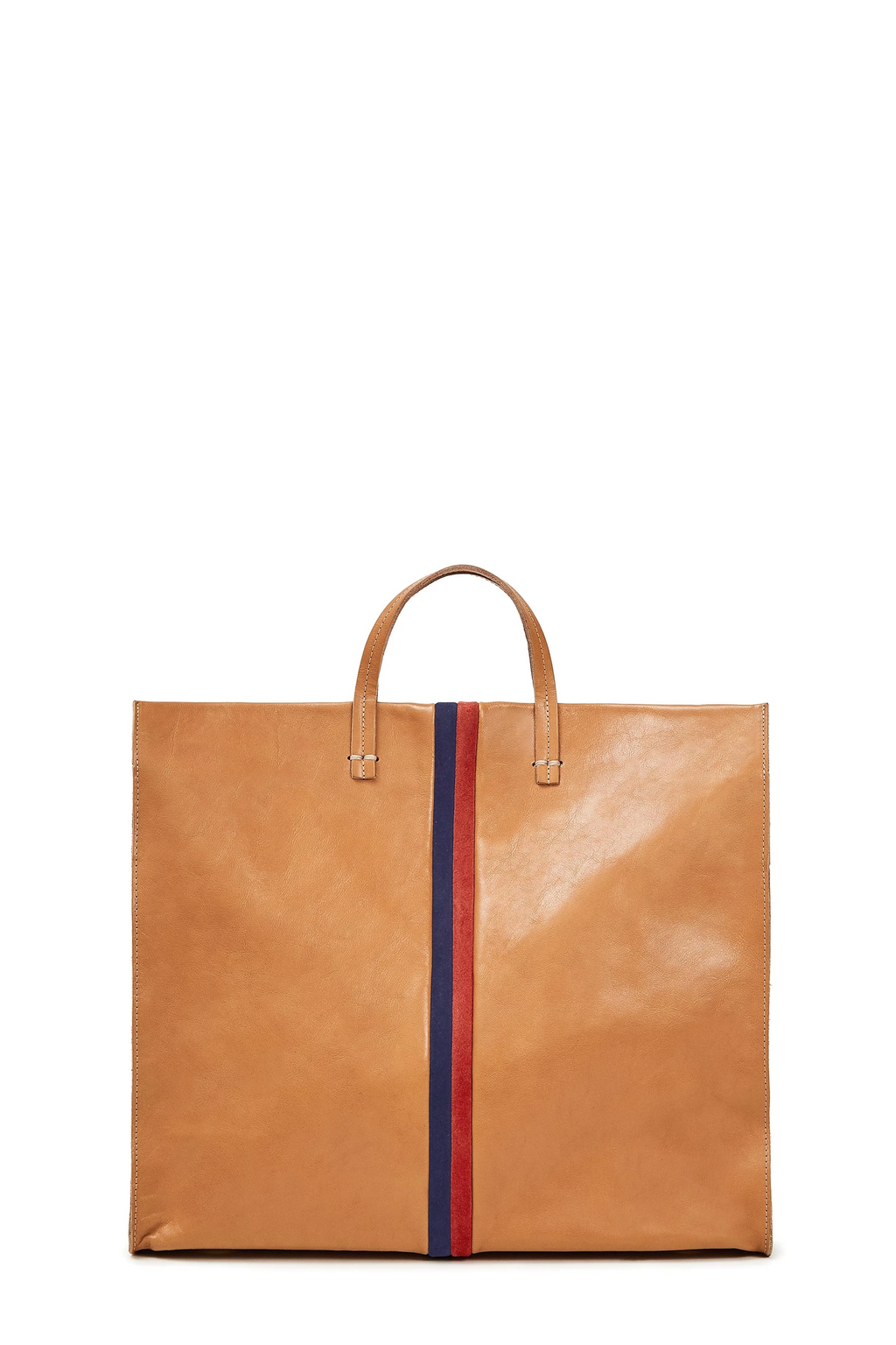clare v. simple tote natural rustic leather