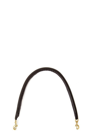 clare v. tubular shoulder strap black leather