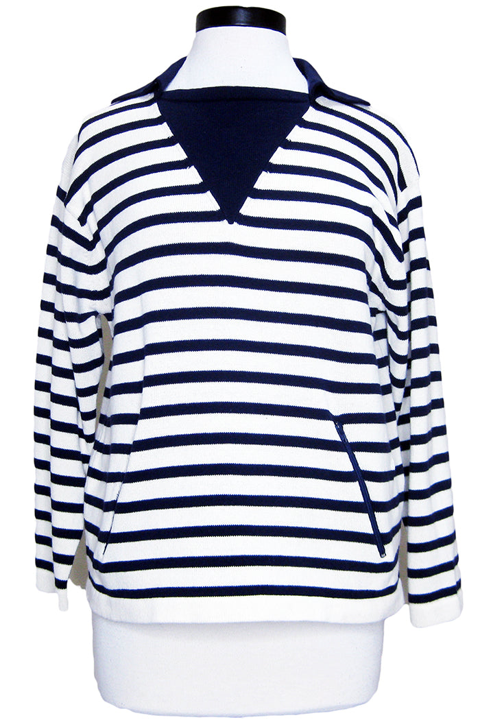current/elliott the elsie sweater navy ivory