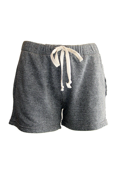 current/elliott gathered knit short heather grey