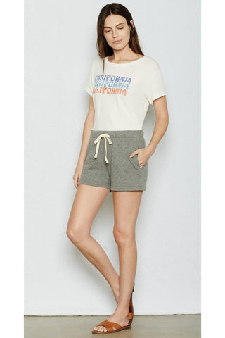 current/elliott the gathered knit short