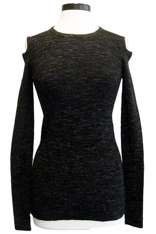 current/elliott the melange cutout sweater