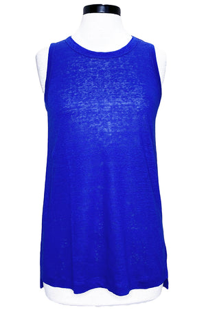 current/elliott the linen muscle tank royal blue