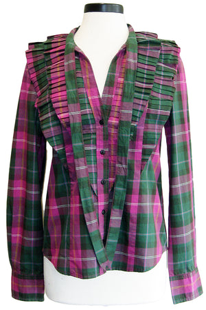 current/elliott the purch top wild aster plaid