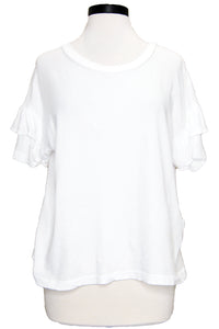 current/elliott the ruffle roadie tee sugar