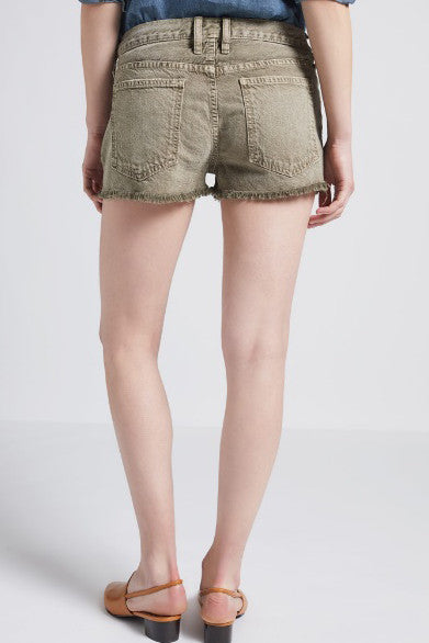 current/elliott the boyfriend short in stone grey