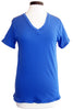 current/elliott the boyfriend v-neck victoria blue