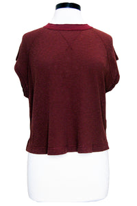 current/elliott the raglan tee oxblood