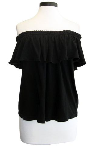 current/elliott the ruffle top