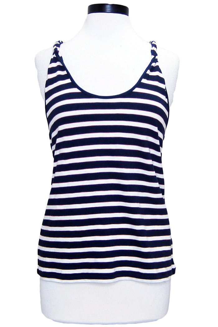 current/elliott the twisted tank navy cream