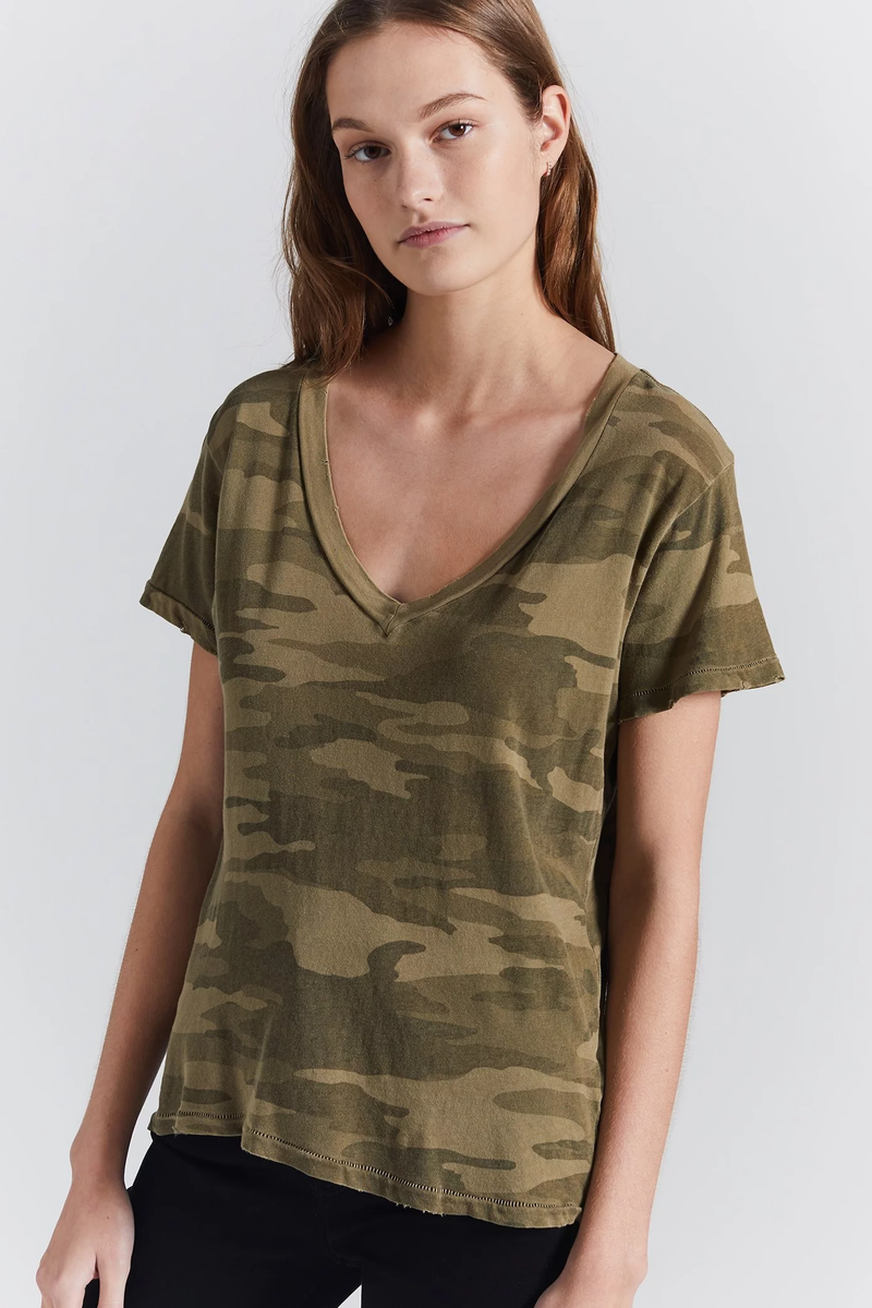 current/elliott the v-neck army camo