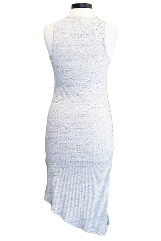 david lerner asymmetrical ruched dress