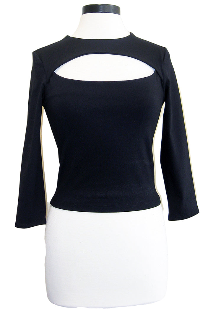 david lerner cut out crop top black